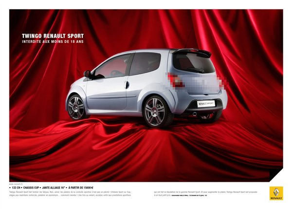 affiche renault twingo pixel. Black Bedroom Furniture Sets. Home Design Ideas